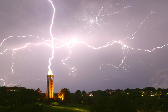 Lightning over Kansas University